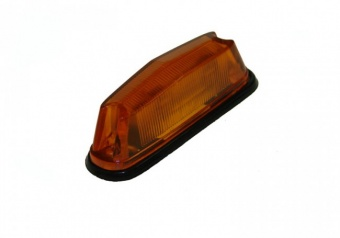 Amber flashing side marker