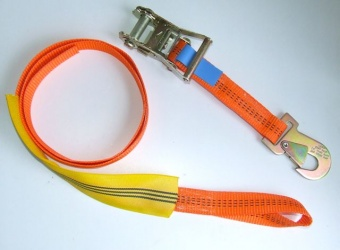 2m ratchet lashing strap with loop & hook
