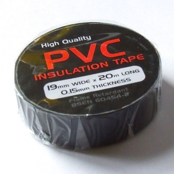 PVC tape BS3924 Black 19mmx20m