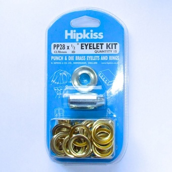 1/2'' Brass eyelet kit with punch & die