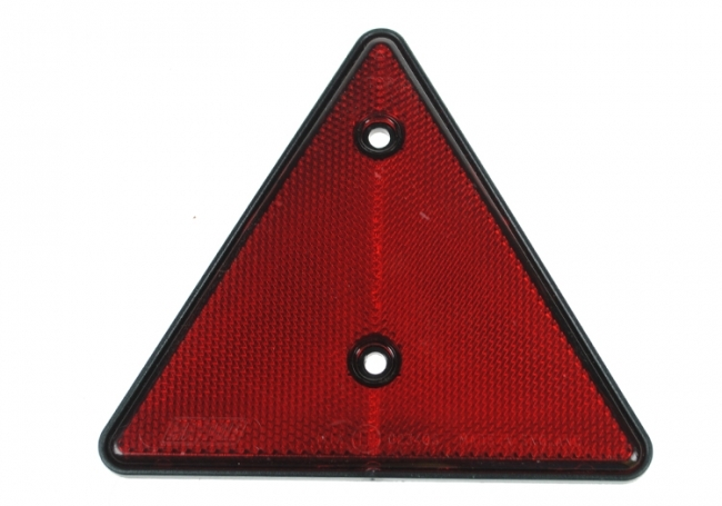 Tractor Reflective Triangles : Red triangle reflector