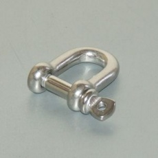 6mm stainless steel D-shackle