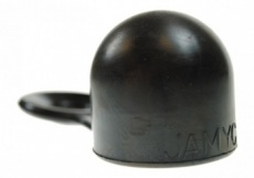 Rubber towball cover with ring