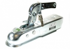Pressed steel hitch and lock