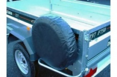 Trailer spare wheel cover for 8'' wheels